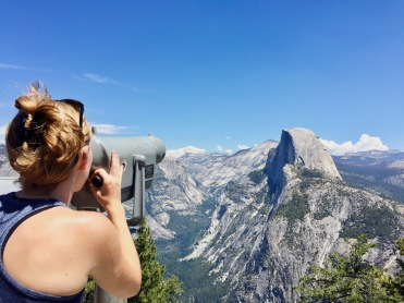 Top of Glacier Point. View of Half Dome